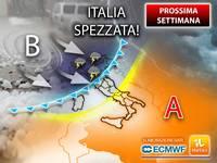 Meteo: PROSSIMA SETTIMANA, da Lunedì ITALIA SPEZZATA nel CLOU dell'ESTATE, tra PIOGGE, GRANDINE e FORNO AFRICANO