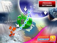 Meteo: PROSSIMA SETTIMANA, a Novembre da Autunno a Inverno in un Lampo, dopo le Grandi Piogge ecco Freddo e Neve