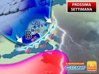 Meteo: PROSSIMA SETTIMANA, da Mercoledì Ondata di Piogge, poi Freddo e anche Neve. La Tendenza per Novembre