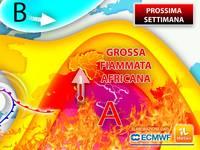 Meteo: PROSSIMA SETTIMANA, Già da Lunedì ITALIA nella MORSA di una GROSSA FIAMMATA AFRICANA. La TENDENZA