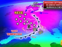 Meteo: PROSSIMA SETTIMANA, correnti ARTICHE all'attacco dell'Italia. VENTI di BURRASCA e NEVE in PIANURA