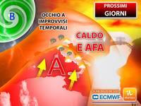Meteo: da Mercoledì ESCALATION di CALDO e AFA, ma occhio a IMPROVVISI TEMPORALI. PREVISIONI per i PROSSIMI GIORNI