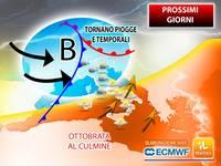 Meteo: PROSSIMI GIORNI, Ottobrata verso il culmine, da Giovedì Peggioramento con Piogge e Temporali. Previsioni