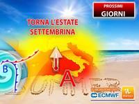 Meteo: PROSSIMI GIORNI, all'IMPROVVISO Torna l'ESTATE SETTEMBRINA! Le CONSEGUENZE in ITALIA fino a Venerdì