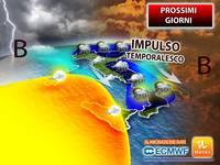 Meteo: PROSSIMI GIORNI, da Martedì nuovo IMPULSO TEMPORALESCO su almeno Mezza Italia. PREVISIONI SETTIMANA