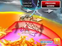 Meteo: fino a Venerdì l'ANTICICLONE AFRICANO Infuocherà l'ITALIA, ma ATTENZIONE a qualche SORPRESA