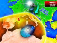 Meteo: domani, un SABATO di attesa, qualche pioggia poi entra la BORA: ecco dove soffierà e dove pioverà