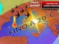 Meteo: TEMPERATURE anche fino a 20°C di giorno. Ecco DOVE e quanto durerà questo ANTICIPO di PRIMAVERA
