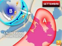 Meteo: SETTEMBRE, ancora un Caldo Estivo o primi Freddi? Ecco la Tendenza per il Primo mese dell'Autunno