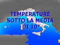 METEO Italia: da Lunedì 19 SHOCK, si va oltre 10°C sotto la media