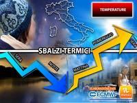 Meteo: TEMPERATURE, nei Prossimi Giorni dal Freddo al Caldo in poche ore, attesi SBALZI anche di 20°C! I Dettagl