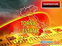 Meteo: torna l'ESTATE, IMMINENTE COLPO DI CODA AFRICANO, TEMPERATURE oltre 35°C.  QUANDO e DOVE