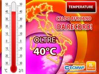 Meteo: TEMPERATURE, arriva un CALDO AFRICANO da RECORD, attesi PICCHI di oltre 40°C e siamo solo all'inizio!