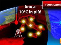 Meteo: TEMPERATURE, entro pochi giorni Cambierà tutto, avremo fino a 10°C in più. Ecco Quando e Dove