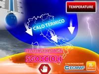 Meteo: CALORE AFRICANO agli SGOCCIOLI, tra poco TEMPERATURE in DIMINUZIONE su tutta Italia. Vi diciamo QUANDO