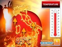 Meteo: TEMPERATURE, il CALDO AFRICANO adesso fa sul SERIO, attesi PICCHI di 45°C per tanti GIORNI. Vi diciamo DOVE