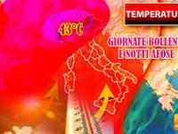 Meteo: TEMPERATURE in Progressivo Aumento fino a 43°C e Notti Afose. Ecco le Città da Bollino Rosso