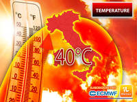 Meteo: TEMPERATURE, SUPER ONDATA di CALDO in arrivo, PICCHI di 40°C. Vi diciamo QUANDO e DOVE si Soffrirà di più
