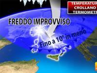 Meteo > TEMPERATURE, CROLLANO i TERMOMETRI, fino a 10°C in meno. Ecco QUANTO durerà questo FREDDO IMPROVVISO