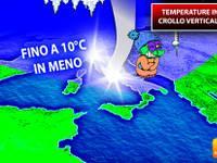 METEO: TEMPERATURE in CROLLO VERTICALE di 10°C. COLPO di CODA INVERNO. Torna il FREDDO, ecco DOVE e QUANDO