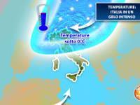 Meteo: TEMPERATURE, Italia in un GELO INTENSO, attenzione alle prossime notti. Ecco quanto durerà il FREDDO
