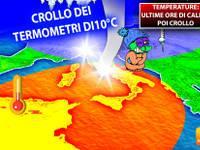 Meteo > TEMPERATURE PAZZE, ultime 48 ore di CALDO, poi CROLLO dei TERMOMETRI di 10°C. Ecco DOVE e PERCHE'