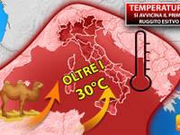 Meteo: TEMPERATURE, si avvicina  il primo RUGGITO ESTIVO, a oltre 30°C. Ecco DOVE farà più CALDO