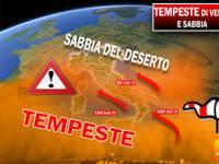 Meteo: TEMPESTE di VENTO e SABBIA a 100 km/h da Lunedì 22, pericolo MAREGGIATE. Ecco DOVE