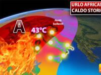 Meteo: Urlo Africano, Caldo Storico a 43°C, Notti Bollenti. Ecco Quando il Picco e per Quanti Giorni durerà