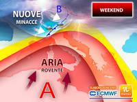 Meteo: nel PROSSIMO WEEKEND ITALIA CONTESA tra CLIMA ROVENTE e NUOVE MINACCE. TENDENZA per SABATO 19 e DOMENICA 20
