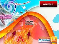 Meteo AVVISO: nel WEEKEND ITALIA in un FORNO a 40°C, ma ATTENZIONE ai Violenti TEMPORALI con GRANDINE DOMENICA