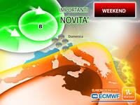 Meteo WEEKEND: ci sono Importanti NOVITA' per Sabato 25 e Domenica 26 SETTEMBRE. Gli AGGIORNAMENTI