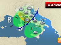 Meteo: WEEKEND, già da Venerdì Tempo in PEGGIORAMENTO. SABATO e DOMENICA Italia sotto la PIOGGIA. Ecco i Dettagli