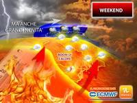 Meteo: WEEKEND, dopo il BOOM di CALDO purtroppo ci sono novità ESTREME per SABATO 31 Luglio e DOMENICA 1 Agosto