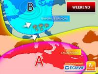 Meteo: WEEKEND ESTREMO, ITALIA Divisa tra CALDO INTENSO e FORTI TEMPORALI con GRANDINE. Dettagli SABATO e DOMENICA