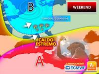 Meteo: WEEKEND a RISCHIO, ITALIA SPACCATA tra VIOLENTI TEMPORALI e CALDO ESTREMO. PREVISIONI SABATO 31 e DOMENICA 1