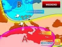 Meteo: WEEKEND a RISCHIO, FORTI TEMPORALI minacciano tante REGIONI. Le zone DOVE pioverà Sabato 7 e Domenica 8