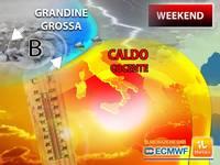 Meteo: WEEKEND COCENTE su quasi tutta l'ITALIA, ma su alcune ZONE tornerà la GRANDINE GROSSA tra SABATO e DOMENICA
