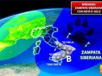 Meteo: WEEKEND, SIBERIA chiama Italia, Sabato e Domenica con il GELO, torna la NEVE in pianura, ecco dove