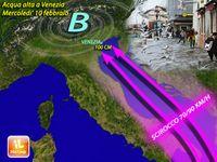 Meteo / VENEZIA, acqua ALTA in ARRIVO, previsti fino a 100 cm di MAREA. Le PREVISIONI ESCLUSIVE