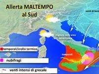 METEO / allerta MALTEMPO al Sud, Nubifragi in arrivo e venti forti [VIDEO]