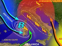 Meteo / ECCO le REGIONI più COLPITE da PANTA REI nei prossimi giorni, FORTE MALTEMPO. Previsioni