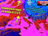 Meteo: AUTUNNO E INVERNO, Italia al CALDO, ma non mancheranno PIOGGIA e NEVE