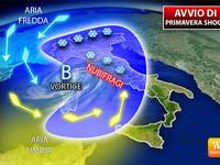 Meteo: MARZO, Avvio di PRIMAVERA SHOCK, in Arrivo un Vortice INSTABILE, rischio Nubifragi. Ecco la PREVISIONE
