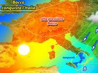 METEO, l'alta pressione BACCO invade l'Italia, ultimi temporali al Sud, altrove SOLE [VIDEO]