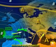Meteo - 11-15 Maggio, rischio di NUBIFRAGI col ciclone POPPEA! Ecco le aree sotto attacco