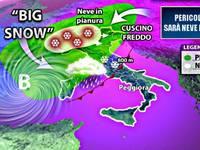 Meteo: pericolo BIG SNOW, sarà NEVE fino in PIANURA. Ecco DOVE e QUANDO