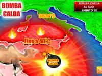 Meteo: PREVISIONI ITALIA ROVENTE, da Sabato 30 FIAMMATA CALDA al Sud a 40 gradi, durerà?
