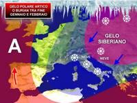 Meteo: fine GENNAIO e FEBBRAIO: ipotesi di GELO POLARE ARTICO o BURIAN. Ecco le prospettive per l'ITALIA
