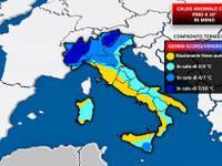 METEO: TEMPERATURE in RETROMARCIA, entro Venerdì FINO A 10°C in meno al Nord